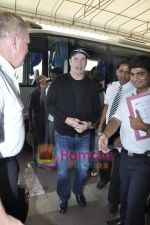 John Travolta left India and went to Moscow in Mumbai International Airport on 28th Sept 2010 (12).JPG