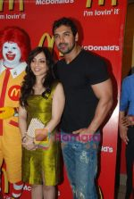 John Abraham and Pakhi at McDonalds to promote Jhootha Hi Sahi in Fun Republic on 14th Oct 2010 (46).JPG