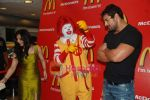 John Abraham and Pakhi at McDonalds to promote Jhootha Hi Sahi in Fun Republic on 14th Oct 2010 (6).JPG