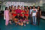 Kingfisher calendar girls at Talwalkars in Mumbai Central on 18th Oct 2010 (65).JPG