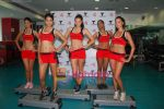 Kingfisher calendar girls at Talwalkars in Mumbai Central on 18th Oct 2010 (90).JPG