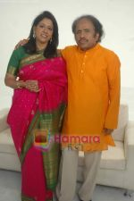 Kavita Krishnamurthy, Dr L Subramaniam at a music video directed by Luke Kenny in Andheri on 29th Oct 2010