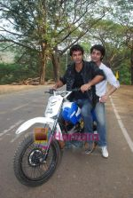 TV stars Shravan and Ranbir ( Karan Wahi) bike race in Filmcity, Mumbai on 28th Dec 2010 (11).JPG