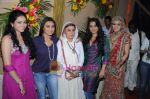 Vaishnavi Dhanraj, Rani Mukherji, Meghna Malik, Vidya Balan and Simran Kaur on sets of Na Aana Is Des Laado to promote No One Killed Jessica on 29th Dec 2010.JPG