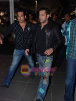 Salman Khan returns from Dubai on 30th Dec 2010 (3).JPG