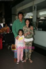 Chunky Pandey spotted at Airport in International Airport, Mumbai on 3rd Jan 2011 (4).JPG