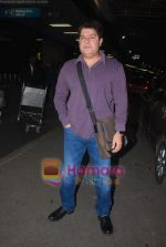 Sajid Khan leave for Zee Awards in Singapore in Mumbai Airport on 12th Jan 2011 (3).JPG