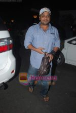 Sajid leave for Zee Awards in Singapore in Mumbai Airport on 12th Jan 2011 (2).JPG