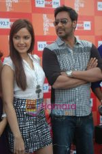 Shazahn Padamsee, Ajay Devgan at Dil to Baccha Hai Ji kite flying event in Big FM, Andheri on 12th Jan 2011 (2).JPG