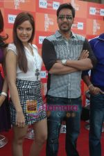 Shazahn Padamsee, Ajay Devgan at Dil to Baccha Hai Ji kite flying event in Big FM, Andheri on 12th Jan 2011 (3).JPG