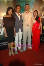 Chitrangda Singh, Irrfan Khan, Arunoday Singh, Aditi Rao Hydari at Yeh Saali Zindagi music launch in Marimba Lounge on 13th Jan 2011 (4).JPG