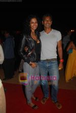 Milind Soman at Day 1 of Chivas Studiio in Mahalaxmi Race Course on 14th Jan 2011 (4).JPG