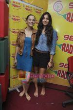 Kriti Malhotra, Monica Dogra promote Dhobighat on Radio Mirchi in Andheri, Mumbai on 19th Jan 2011 (12).JPG