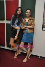 Kriti Malhotra, Monica Dogra promote Dhobighat on Radio Mirchi in Andheri, Mumbai on 19th Jan 2011 (18).JPG