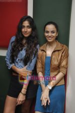 Kriti Malhotra, Monica Dogra promote Dhobighat on Radio Mirchi in Andheri, Mumbai on 19th Jan 2011 (20).JPG