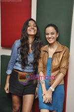 Kriti Malhotra, Monica Dogra promote Dhobighat on Radio Mirchi in Andheri, Mumbai on 19th Jan 2011 (22).JPG