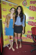 Kriti Malhotra, Monica Dogra promote Dhobighat on Radio Mirchi in Andheri, Mumbai on 19th Jan 2011 (4).JPG