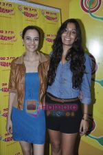 Kriti Malhotra, Monica Dogra promote Dhobighat on Radio Mirchi in Andheri, Mumbai on 19th Jan 2011 (8).JPG