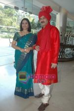 Kishori Godbole, JD Majethia at the launch of Mrs Tendulkar serial on SAB Tv in Mumbai on 21st Jan 2011 (2).JPG