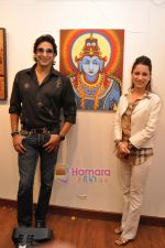 Wasim Akram with Rouble Nagi at Rouble Nagi_s Art Exhibition on 3rd Feb 2010 (2).JPG