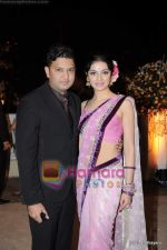 Divya Khosla, Bhushan Kumar at  Imran Khan_s wedding reception in Taj Land_s End on 5th Feb 2011 (119).JPG