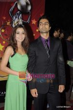 Sara Khan, Ashmit Patel at Global Indian Film and TV awards by Balaji on 12th Feb 2011 (198).JPG