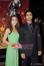 Sara Khan, Ashmit Patel at Global Indian Film and TV awards by Balaji on 12th Feb 2011 (2).JPG