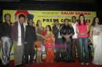 Hrishita Bhatt, Mink Brar, Shravan Rathod at the press meet with Jeetu Singh announcing her entry into the Guinness World record in The Club on 28th Feb 2011 (4).JPG