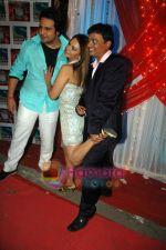 Rakhi Sawant, Krushna at the location of Comedy Circus in Andheri on 1st March 2011 (4).JPG