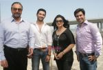 Kabir bedi, Chirag Paswan, Poonam Dhilon, Neeraj Paswan Shoots for his debut film One and Only in Bandra Fort on 15th May 2011.jpg