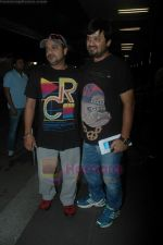Sajid Wajid leave for IIFA in Mumbai Airport on 21st June 2011 (66).JPG