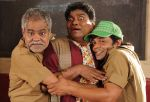 Sanjay Mishra, Johnny Lever, Rajpal Yadav in Still from the movie Bin Bulaye Baraati.jpg