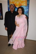 sunil and maya alagh at Poonam Aggarwal art event in Museum Art gallery on 27th June 2011.JPG