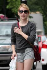 Emma Roberts in Shorts in London 5th July 2011 (4).jpg