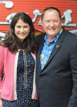 Denise Ream and John Lasseter at Cars 2 UK Premiere Pre-Party Celebration - Arrivals in Whitehall Gardens on July 17th 2011.jpg