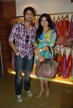 Alekh and Niharika at the launch of Designer Pallavi Goenka_s the new festive  collections in Mumbai on 20th July 2011.JPG