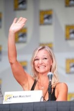 Kari Matchett attends the 2011 Comic-Con International San Diego - Day 1 - Covert Affairs Panel on July 21, 2011 (2).jpg
