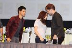 Taylor Lautner, Kristen Stewart, Robert Pattinson poses to promote Breaking Dawn from the Twilight Saga at  the 2011 Comic-Con International Day 1 at the San Diego Convention Center on July 21, 2011 (16).jpg