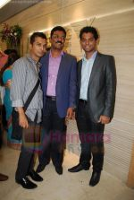 pratap sarnaik with Vikram phadnis and vihang sarnaik at Pratap Sarnaik birthday party in Mumbai on 28th July 2011.JPG