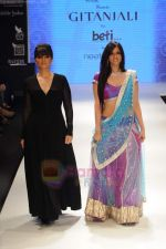 Neeta Lulla, Nishka Lulla walks the ramp for Beti Gitanjali Show at IIJW 2011 in Grand Hyatt on 31st July 2011 (291).JPG