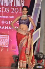 Model walks the ramp for Saree designer Shruti Sancheti showcase at 7TH Retail Jeweller Awards in Lalit Hotel on 6th Aug 2011 (39).JPG