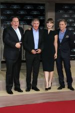 Jon Favreau, Harrison Ford, Olivia Wilde and Daniel Craig attends the Berlin Premiere of the movie Cowboys and Aliens on 8th August 2011 (1).jpg
