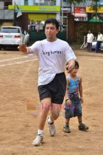 Sajid Nadiadwala at Men_s Helath fridly soccer match with celeb dads and kids in Stanslauss School on 15th Aug 2011 (25).JPG