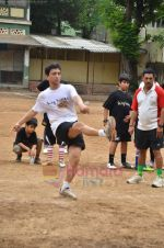 Sajid Nadiadwala at Men_s Helath fridly soccer match with celeb dads and kids in Stanslauss School on 15th Aug 2011 (26).JPG