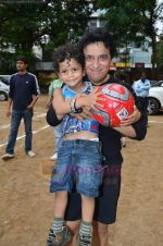 Sajid Nadiadwala at Men_s Helath fridly soccer match with celeb dads and kids in Stanslauss School on 15th Aug 2011 (28).JPG