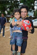 Sajid Nadiadwala at Men_s Helath fridly soccer match with celeb dads and kids in Stanslauss School on 15th Aug 2011 (29).JPG