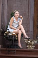 Sharon Stone on the sets of Gods Behaving Badly in NY on August 23, 2011 (1).jpg
