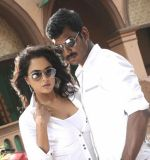 Sameera Reddy, Vishal in Vedi Movie Stills (23).jpg