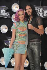 Katy Perry, Russell Brand at the 2011 MTV Video Music Awards in LA on 28th August 2011 (16).jpg