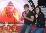 Romit Raj with Wife at Eco Friendly Ganesha Festival- Day 4 at Oberoi Mall Goregaon, Mumbai...JPG